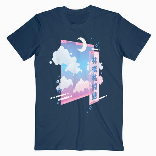80s Retro Vaporwave Pastel Goth Soft Grunge Kawaii Moon T Shirt