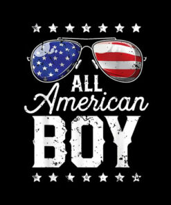 All American Boy 4th of July T shirt Boys Kids Sunglasses