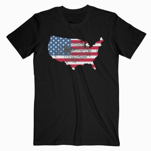 American Flag Eagle Tshirt