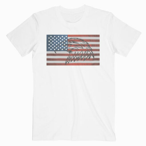 American Flag Eagle Tshirt USA