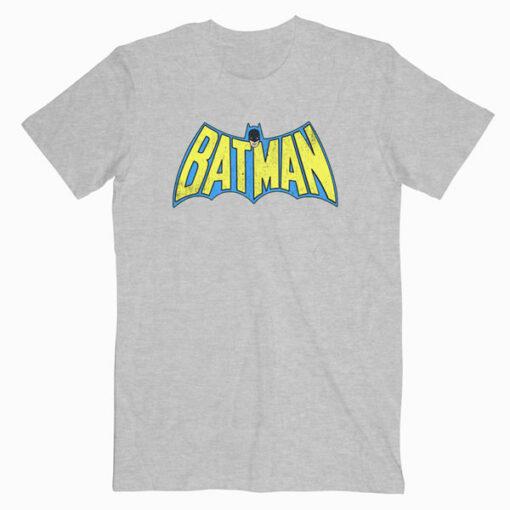 Batman Classic Logo Distressed T Shirt