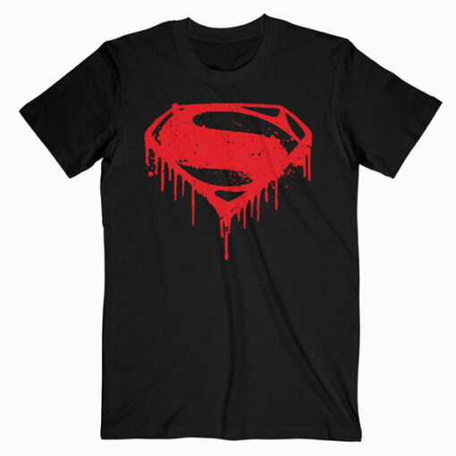 Batman v Superman Splattered T Shirt
