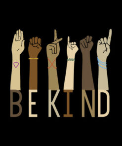 Be Kind Sign Language Hand Talking Teachers Interpreter ASL T-Shirt