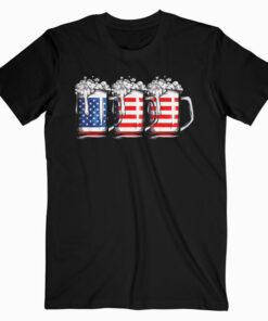 Beer American Flag T shirt 4th of July Men Women Merica USA