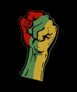 Black History Month Fist Gift Women Men Kids T Shirt