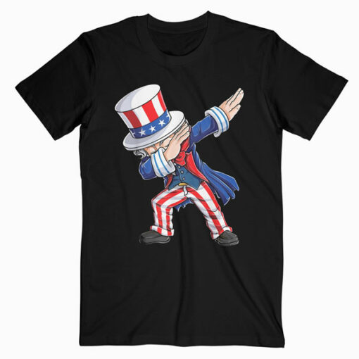 Dabbing Uncle Sam T Shirt 4th of July Kids Boys Men Gifts