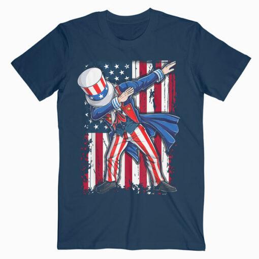Dabbing Uncle Sam T shirt 4th of July Men Kids Boys Gifts