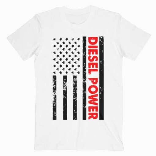 Diesel Power American Flag T Shirt