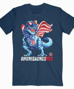 Dinosaur 4th of July T shirt Kids Boys Men Amerisaurus T Rex