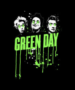 Drips Green Day Band T Shirt