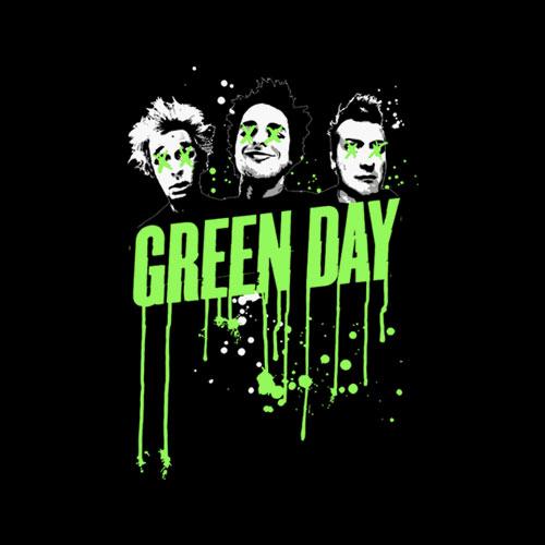 Drips Green Day Band T Shirt