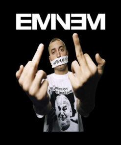 Eminem Middle Finger Band T Shirt