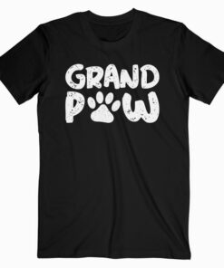 Funny Grand Paw Vintage Dogs Lovers Grandparents Day Gifts T Shirt