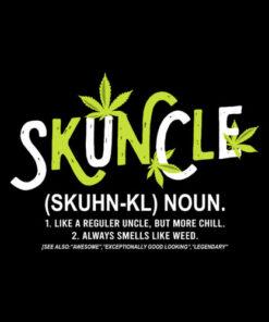 Funny Uncle Weed Smoker Skuncle Marijuana Uncle T Shirt