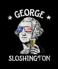 George Sloshington Washington 4th of July Men Funny American T-Shirt