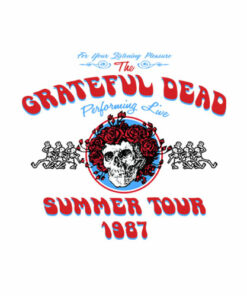 Grateful Dead Summer Tour 1987 Band T Shirt