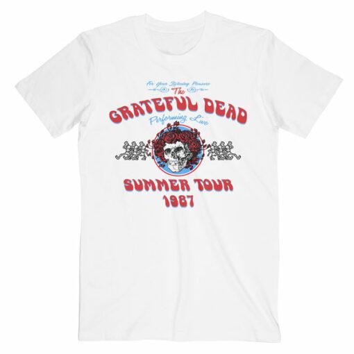 Grateful Dead Summer Tour 1987 Band T Shirt