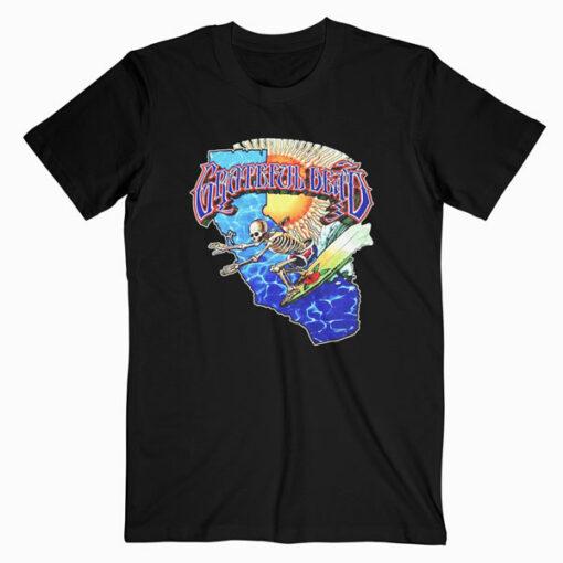 Grateful Dead Surfing Skeleton Vintage 1986 Band T Shirt bl.
