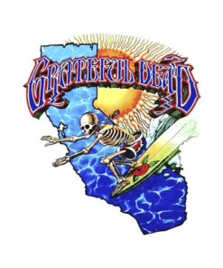 Grateful Dead Surfing Skeleton Vintage 1986 Band T Shirt