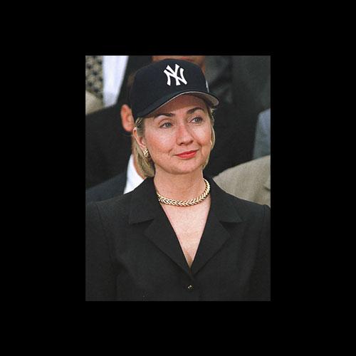 Hillary Clinton Yankees Hat Rihanna T Shirt