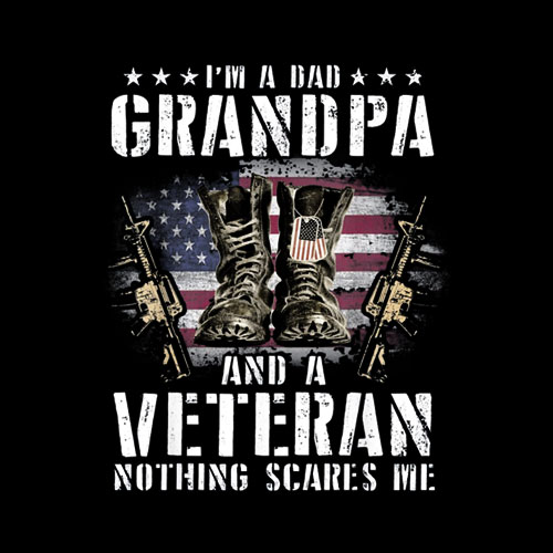 I'm A Dad Grandpa And A Veteran Nothing Scares Me T-Shirt T-Shirt