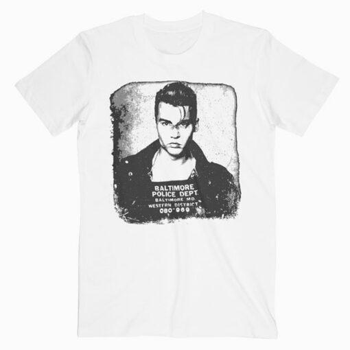 Johnny Depp Baltimore Police Department T Shirt