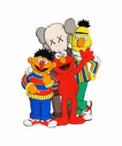 Kaws X Sesame Street Family Collab T Shirt