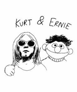 Kurt Cobain And Ernie Band T Shirt