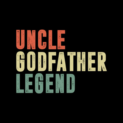 Mens Uncle Godfather Legend Funny Gift For A Favorite Uncle T Shirt