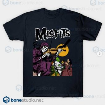 Misfits Legacy of Brutality Band Navy T Shirt