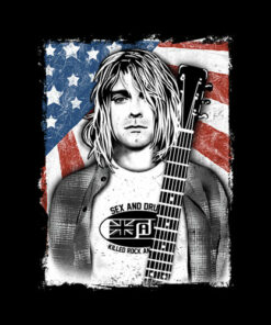Kurt Cobain Nirvana Band T Shirt