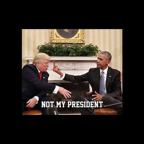 Obama Flips Off Trump T Shirt