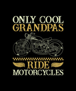 Only Cool Grandpas Ride Motorcycles T Shirt