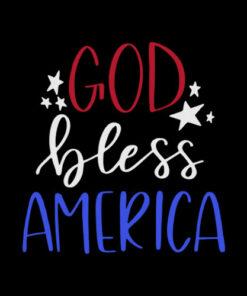 Patriotic USA God Bless America T-Shirt