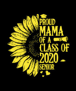 Proud Mama Of A Class Of 2020 Senior Graduation T Shirt