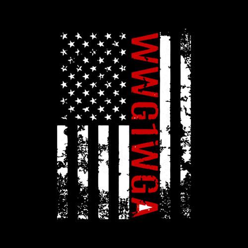 Q Anon WWG1WGA Where We Go One We Go All Qanon US Flag Shirt