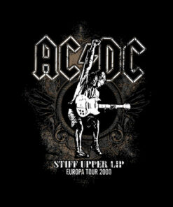 Stiff Upper Lip Europa Tour 2000 ACDC Band T Shirt