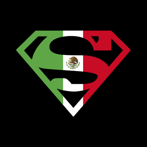 Superman Mexican Shield T Shirt