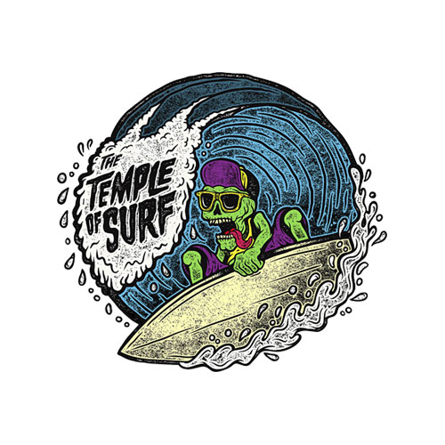 The Tample of Surf T Shirt
