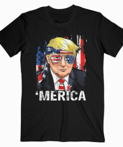 Trump Merica Murica 4th of July American Flag Shirts