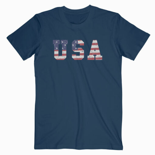 USA Patriotic 4th of July Tee American Flag Vintage T-Shirt