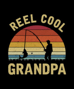 Vintage Reel Cool GRANDPA Fish Fishing Shirt Father's Day T Shirt