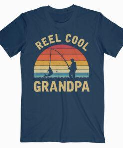 Vintage Reel Cool GRANDPA Fish Fishing Shirt Father's Day T Shirt