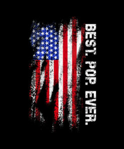 Best Pop Ever Vintage American Flag T Shirt T-Shirt