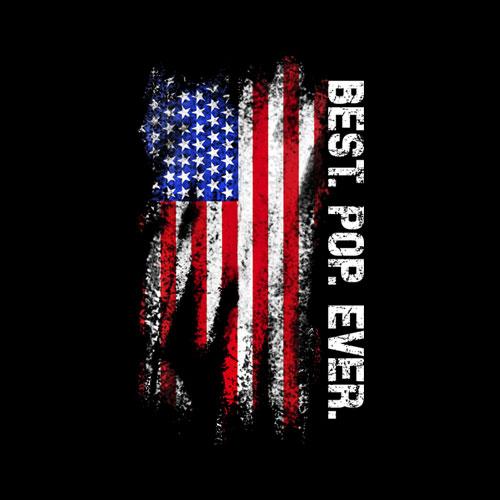 Best Pop Ever Vintage American Flag T Shirt T-Shirt