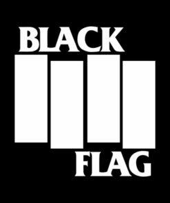 Black Flag Logo Band T Shirt