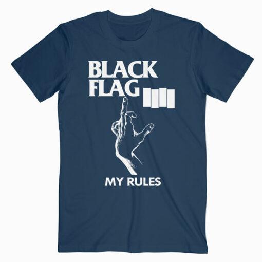 Black Flag My Rules Band T Shirt