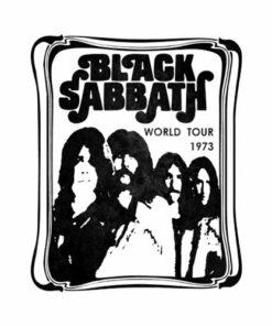 Black Sabbath T Shirt World Tour 1973 Band T Shirt