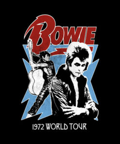 David Bowie 1972 World Tour Band T Shirt