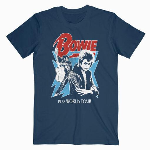 David Bowie 1972 World Tour Band T Shirt